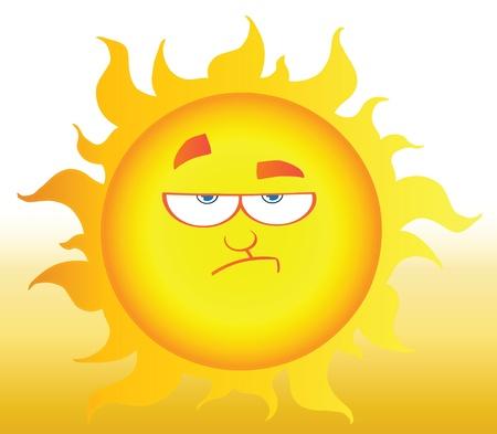 lowering: Lowering Sun Shining Illustration