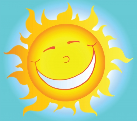 sun energy: Smiling Sun Cartoon Character