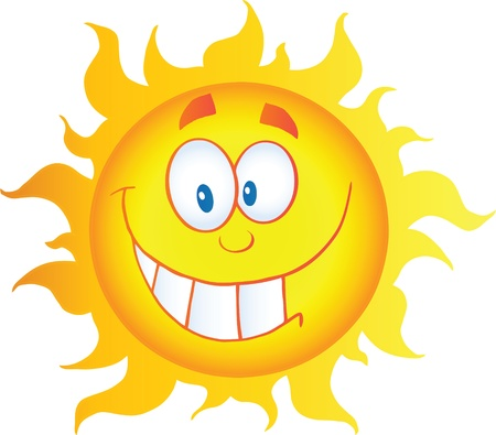 Happy Sun Cartoon Character Stock Vector - 14575455