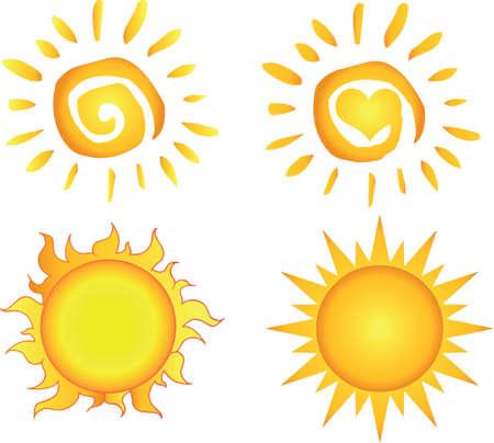el sol: Colecci�n sol diferente Vectores
