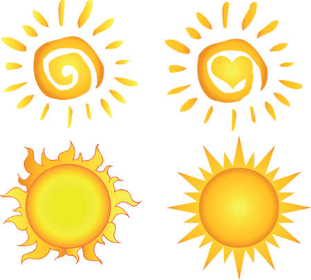 Different Sun  Collection  Stock Vector - 14622677