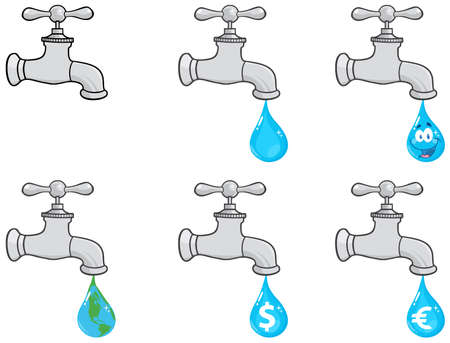 Water Faucets Vector