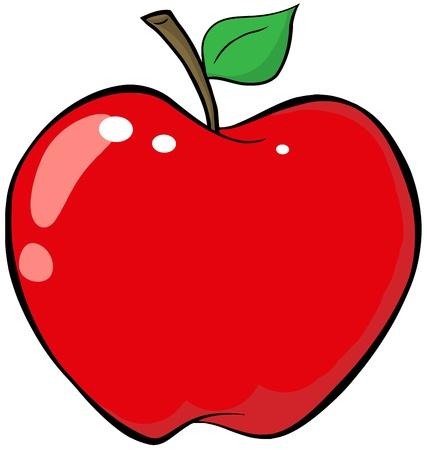 漫画の赤いりんご  イラスト・ベクター素材