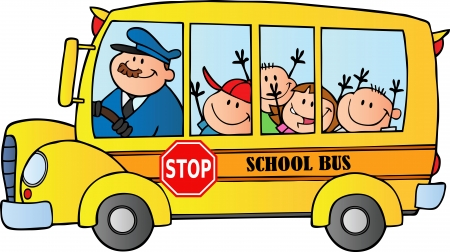 schoolbus: Happy Children On School Bus
