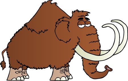 Mammoth Cartoon Character Illustration