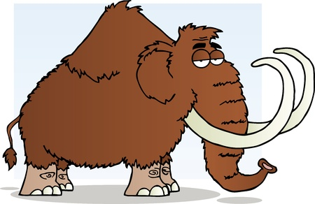 mammoth: Mammoth Cartoon Mascot Character Illustration