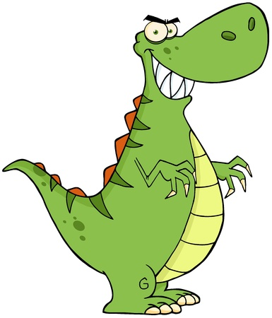 paleontological: Angry Dinosaur Cartoon Character