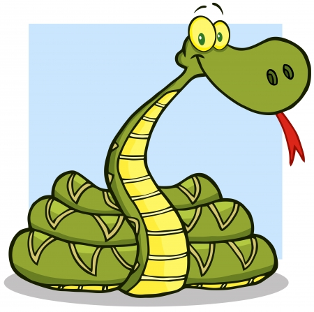 Snake Cartoon Mascot Character Vector
