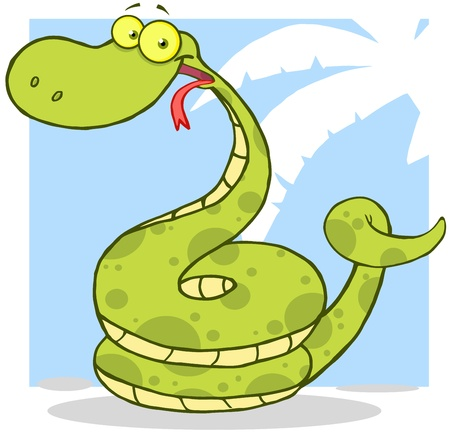 Happy Snake Cartoon Character Stock Vector - 16000511