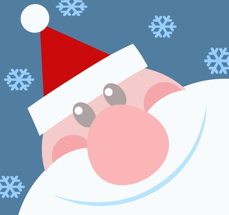kris kringle: Smiling Santa Claus Head Illustration