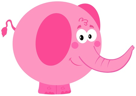 Cartoon Pink Elephant