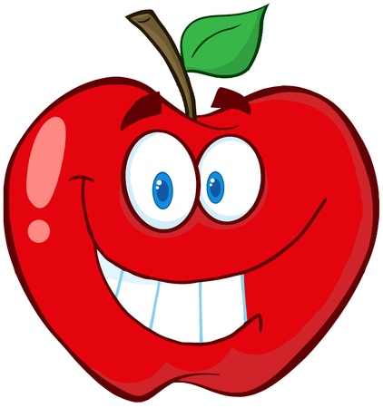 apple cartoon: Apple Cartoon Mascot Character