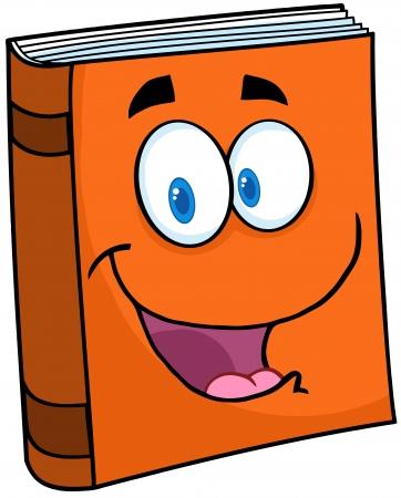 Text Book Cartoon Mascot Character Ilustracja