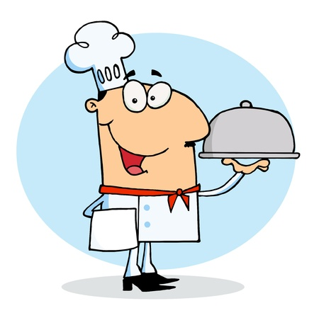 stock clipart icons: Happy Chef Man
