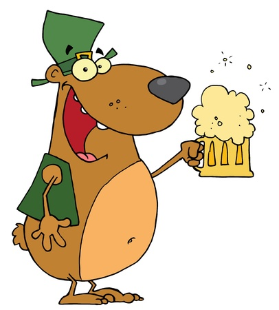 St Patrick s Day Bear Vector