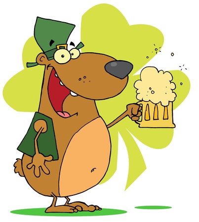 Happy St Patrick s Day Bear Vector