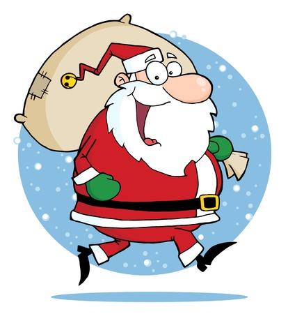 バッグでハッピー サンタ クロースを実行します