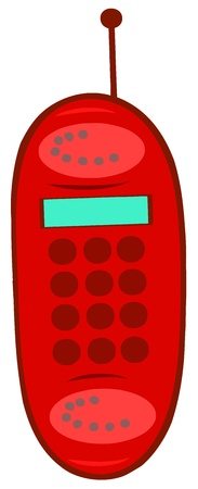 Red Mobile Phone Stock Vector - 16386984