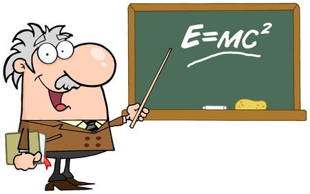 Happy Caucasian Science Professor Discussing Mass Energy Equivalence Physics Stock fotó - 16387018