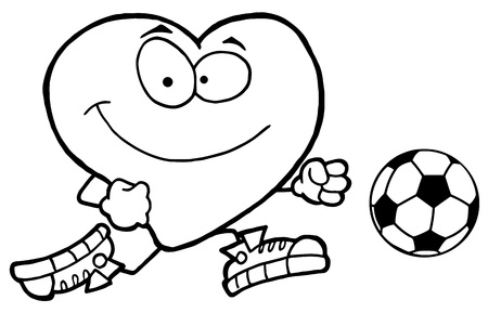 Healthy Red Heart Playing With Soccer Ball