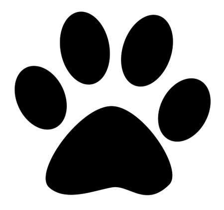 footprint: Paw Negro Vectores