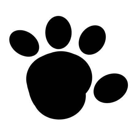 Black Paw Print Stock Vector - 16446197