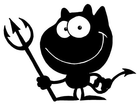 diavoli: Solid sagoma nera di un diavolo