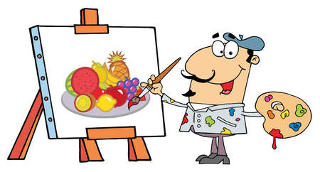 art painting: Artist Painter Illustration