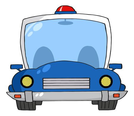 Cartoon Police Car Illustration