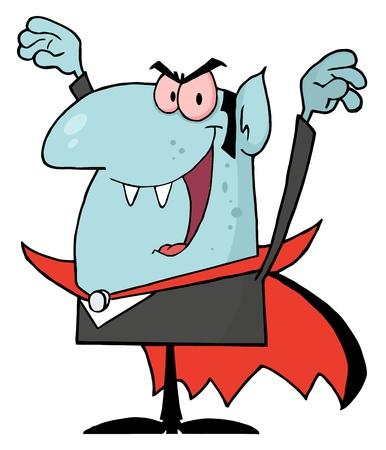menacing: Menacing Vampire Illustration