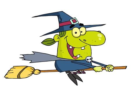 strega che vola: Wicked Halloween strega volante