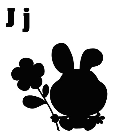 jack rabbit: Silhouetted JackRabbit With Letters J