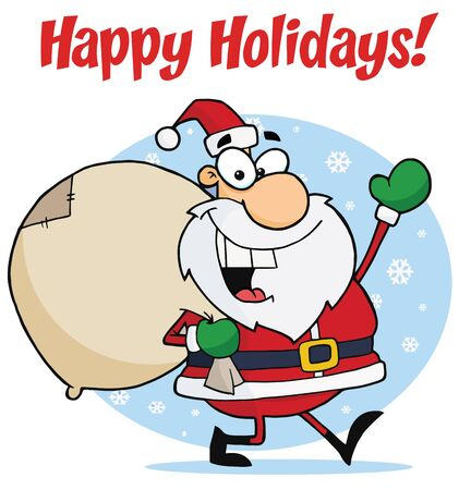 Holiday Greetings With Christmas Santa Vector
