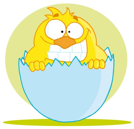 Happy Little Chick Stock Vector - 16598166