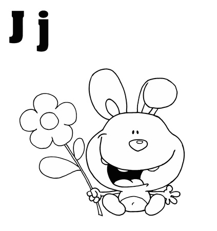 jackrabbit: Outlined JackRabbit With Letters J
