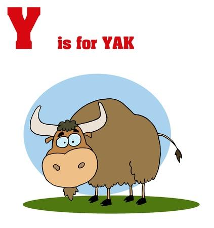 Cartoons Alphabet With Text-Y Illusztráció