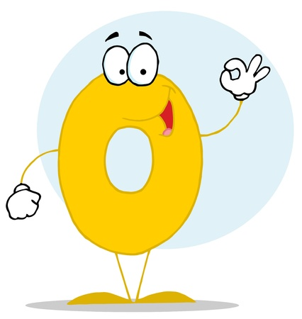 numbers clipart: Funny Cartoon Numbers-0