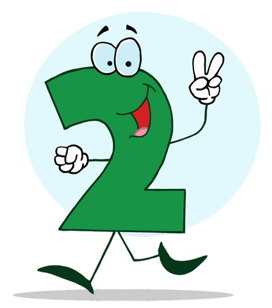 Funny Cartoon Numbers-2, background Vector