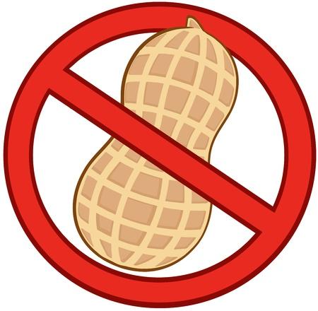Stop Peanuts Sign 일러스트