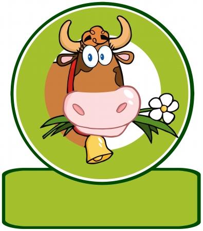 젖소 만화 로고 마스코트
