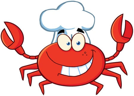 crawfish: Crab Chef Cartoon Mascot Character Illustration