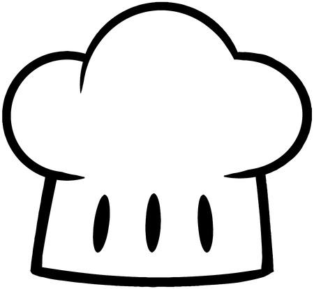 kitchener: Outlined Chef Hat