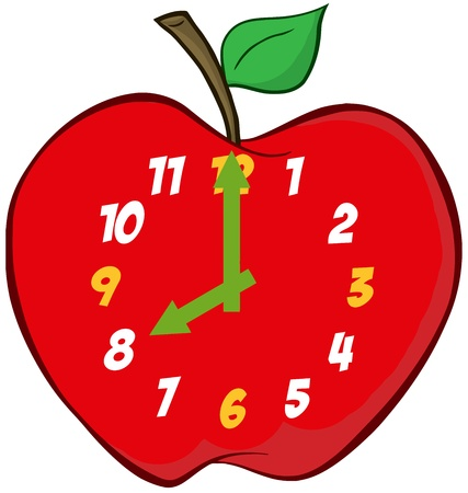 clockwise: Apple Clock Illustration