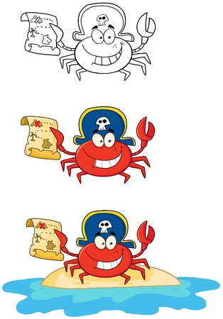 Crab Pirate  Collection Stock Vector - 18280930