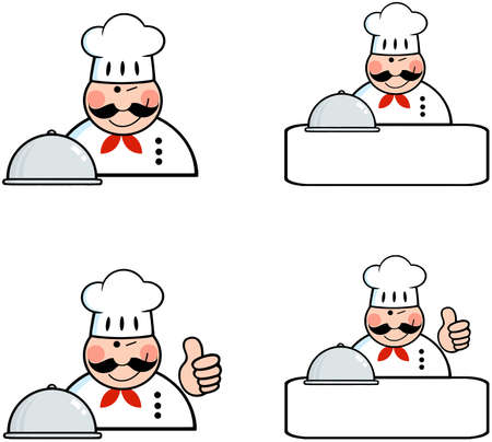 Chefs Banners Collection Stock Vector - 18280915