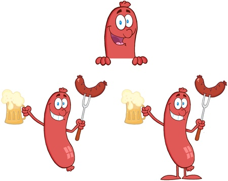 Sausage with Bear Collection Stock Vector - 18280912