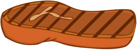 cooked meat: Grilled Steak Illustration