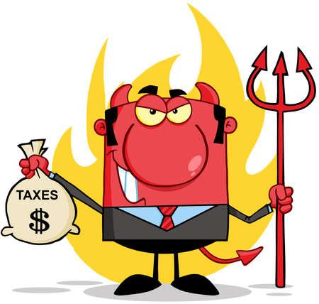 podatek: Uśmiecha się diabeł z Trident I Gospodarstwa Torba Podatki