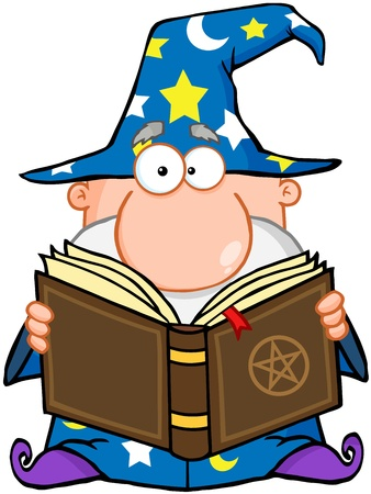 Wizard Holding A Magic Book