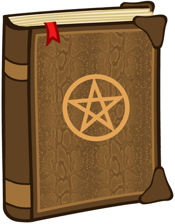 pentagram: Magic Book With Pentagram